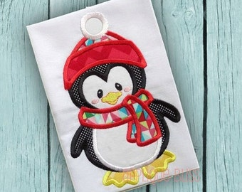 Penguin Applique Design - Christmas - Holiday - Penguin Embroidery Design - Machine Embroidery - Penguin Applique Design