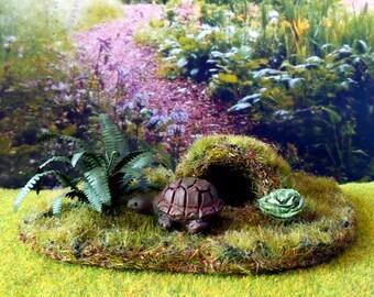 Turtle pet miniature Dollhouse scale 1:12