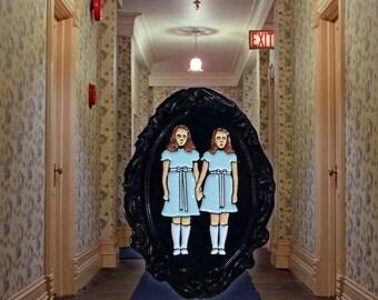 The SHINING Grady girls twins soft enamel lapel PIN / Overlook Hotel Stanley Kubrick Movie Spooky Halloween / #Miner49ers by BUNCEandBEAN