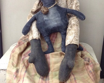Folk Art Doll  Vintage Rag Doll