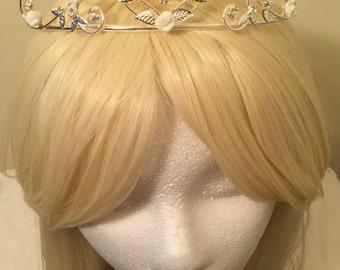 Bridal Rhinestone Tiara, Bridal Crystal Tiara, Wedding Tiara, Bridal Headpiece, Bridal Hair Accessories, Bridal Headband, Tiara, Head Piece