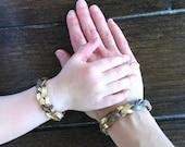 Friendship Bracelets, Essential Oil Diffusing Bracelets, Mommy and Me Matching Bracelets, Braided Leather Bracelet, Mixed Metal Bracelets