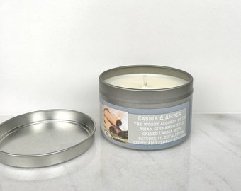 Patchouli Eucalyptus Candle - Scented Soy Candle - Gift for Her - Cassia & Amber Candle - cinnamon candle - clove candle - rosemary candle