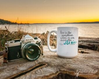 Drink the Wild Air Coffee Cup | Northwest Soul | PNW | Emerson | Literary Mug