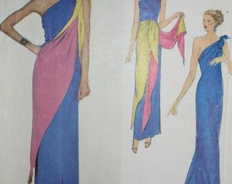 Chloe designed Full-length Dress, Tie & Shawl Pattern for Vogue Paris Original. Size 14