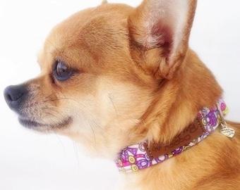 Preppy Dog Collar Aztec Geometric Dog Collar Cute Unique Dog Collar Tribal Girl Dog Collar Small Tiny Dog Collar Fancy Chihuahua Collar