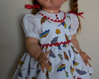 "For 22"" Ideal Saucy Walker Doll - Dress of Pique Inspired by Original"