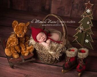 Christmas Newborn Hat Boy, Knit Newborn Hat, Newborn Photo Prop Boy, Newborn Girl Hat, Newborn Boy Hat, Newborn Photo Props, Newborn Bonnet