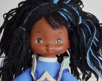 Vintage 80s Rainbow Brite Indigo Violet Doll