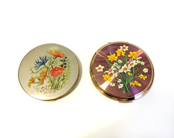Two Vintage Stratton Rondette Compacts