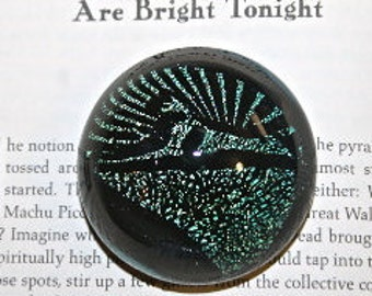Cabochon/PAPERWEIGHT Sphinx Cats under the Stars by PACIFICNWGLASS Free Shipping in USA