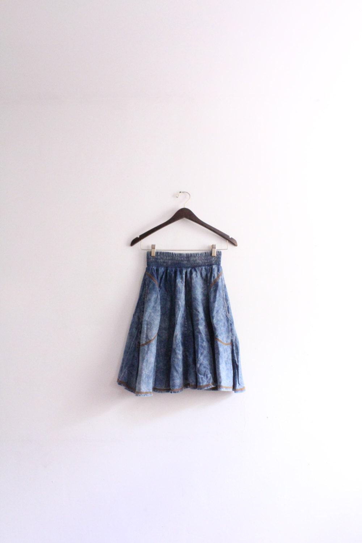 Denim Circle Skirt 6