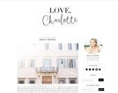 Love Charlotte Premade Blogger Template - Premium Blogger Theme  - Responsive Blogger  - Minimalist Template Lifestyle Photographer Feminine