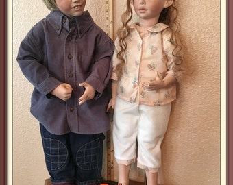 Twin Brother and Sister Porcelain/Bisque Collectable Dolls