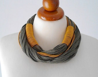 Gold green necklace green jewelry green statement necklace olive green necklace bold necklace chunky necklace bold chunky necklace statement