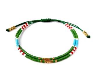 Summer Friendship bracelet, best friend bracelets, colorblock adjustable bracelet ,stackable bracelets