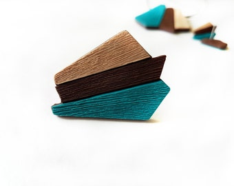 Turquoise statement ring, Big turquoise ring, Unique rings for her, Gift for women, Contemporary rings, Brown ring, Statement ring, Beige