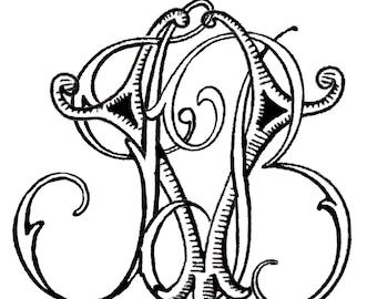 3 Initial Custom Monogram