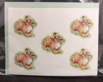 Vintage Sealed Rabbit 4 sheet Stickers