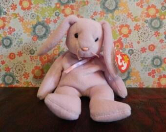"TY Light Purple Bunny Rabbit Beanie Baby ""Floppity"" (J)"