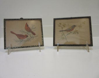 Pair of Early 20th Century Small Bird Prints