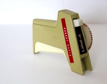 Label-It Dymo Vintage Labeler / Vintage Label / Stamp Labels / Dymo Label Maker / Letter Stamper