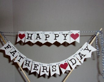 Happy Fathers Day Cake Topper, Fathers Day Cake Topper, Cake Topper, Happy  Fathers Day, Mini Banner,Party  Decor