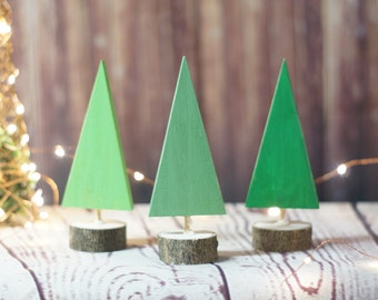Wooden Christmas Tree, Christmas Decorations, Christmas Mantle decorations, Christmas Party, Christmas Gift Hostess, Log Slice Wood Tree