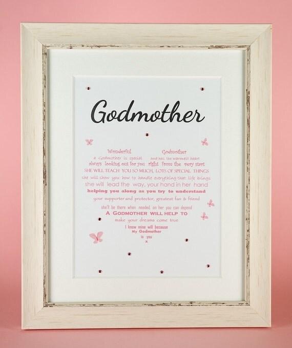 Godmother Wedding Gift: Godmother Gift Christening Gift Thank You Gift For