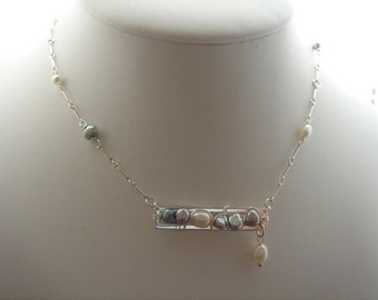 925 necklace with freshwater pearl! Extraordinary design!