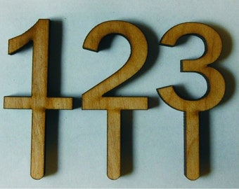 Cake Topper . Birthday . Wooden Number