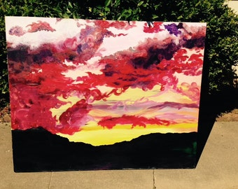 Sunset Painting, Oil Painting