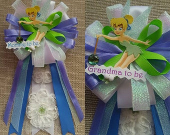 Baby Shower Corsage Pin Tinkerbell Inspired