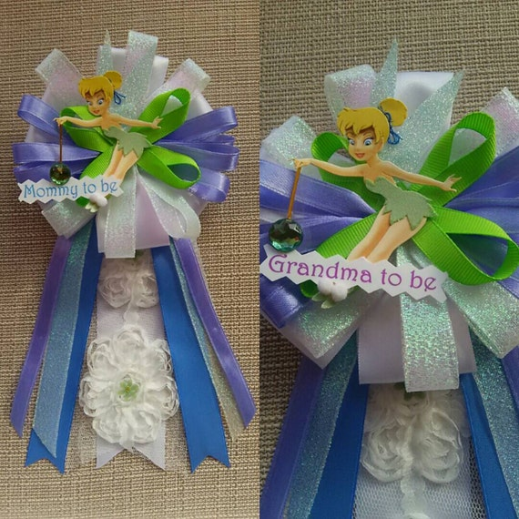 Items Similar To Baby Shower Corsage Pin Tinkerbell Inspired On Etsy