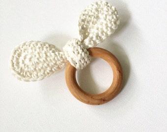 Cotton Crochet Tie Teether