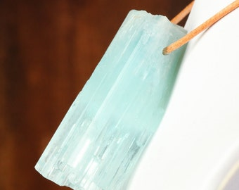 Large Aquamarine Crystal Pendant