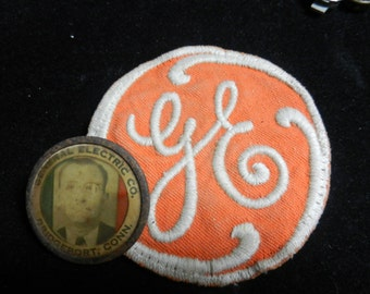 Vintage General Electric Patch and Company ID Plant Badge