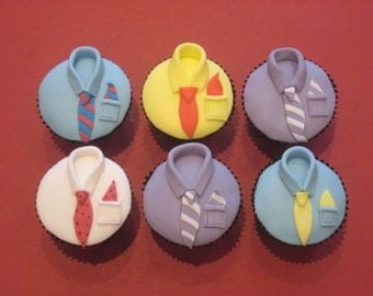 Handmade Father's Day fondant cake toppers - 6