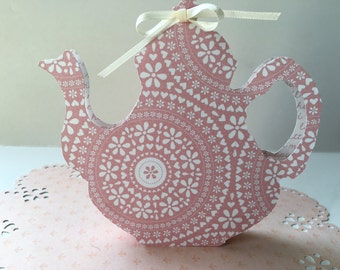 paper tea pot birthday party favors bridal shower tea tea party favors