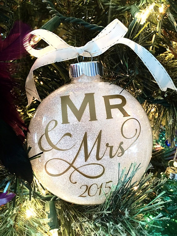 1st Christmas Ornament Wedding