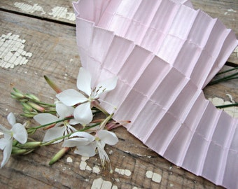 Pale Pink Satin Pleated Ribbon