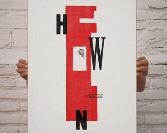 The New Call #01. Art & handmade letterpress. Typography.