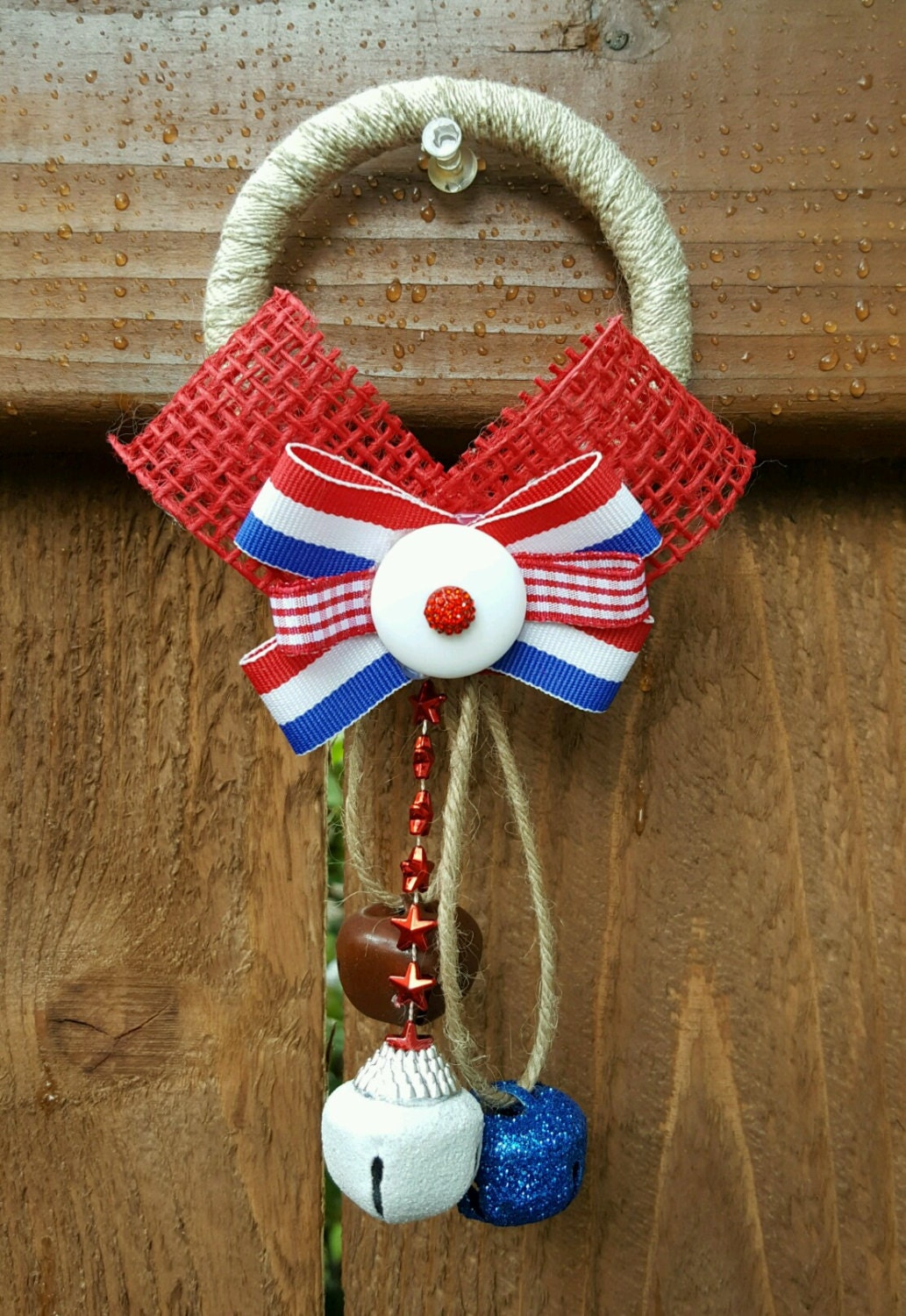 Stars and stripes fourth of july door decor 4th of july door Stars and stripes home decor