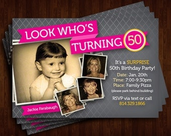Customizable 50th Birthday Invitation