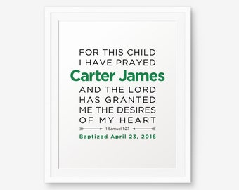 SALE Baptism Printable, Boy Baptism Gift, Girl Baptism Gift, Baptism Prayer, Baby Dedication Gift, Boy Christening
