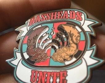"""Bassheads Unite v2 """"Hat Pin"""""""