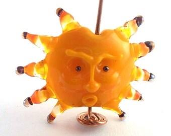 loversofbeads SRA artist Lampwork SRA artist Lampwork sun pendant glass - S561