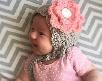 Baby pixie bonnet, crochet pixie bonnet, baby bonnet