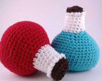 Health and Mana Potion - LARP - AMTGard - Cosplay - Crochet Plush Potions - Ready to Ship!