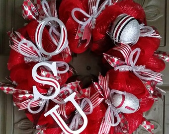 Ohio State Buckeyes deco mesh wreath